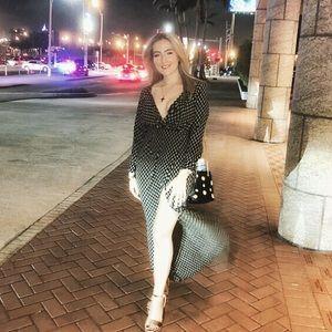 Wrap maxi dress with slit